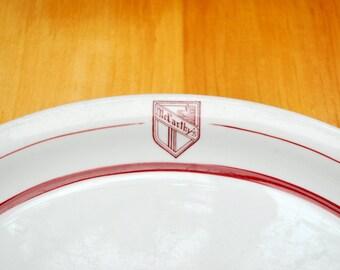 Vintage McCarthy's platter 1943 oval serving platter, McCarthy's Restaurant, Walker china restaurant platter