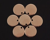 2 14kt Rose Gold Filled Drops Discs Blanks 9mm - Easy to Stamp - Includes Handmade Jump Rings - 100% Guarantee