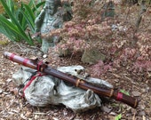Native American Style Flute, Key of E, Bamboo and walnut from Tree of Life Designs