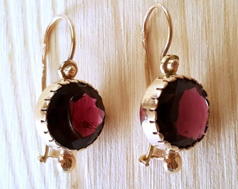 SUPER SALE... True Beauties Stunning Rare Rhodolite Garnet 14k Rose Gold Drop Earrings. Perfect Gift for Her