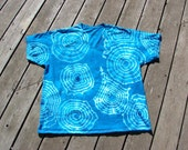 Turquoise Tie Dye Geode Explosion - Adult (2XL) V-Neck Undershirt