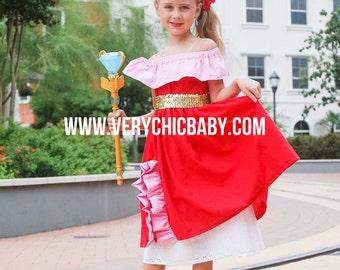 Custom Princess Elena of Avalor Costume Twirly Boutique Dress