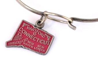 Connecticut Love Charm Bracelet or