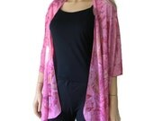 Kimono cardigan - Pretty Pink-Chiffon pink Ruana-chiffon cardigan -shades of pink -Layering piece-Many colors