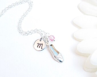 Ballet Ballerina Necklace // First Dance Recital // Dancer Necklace // Ballet Shoe Necklace // Personalized Ballerina Gift