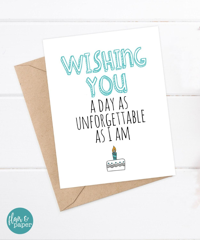 Birthday Card For Boyfriend: Funny Birthday Card Boyfriend Girlfriend Card Funny