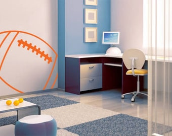 Football Line Sports Removable Wall Decal