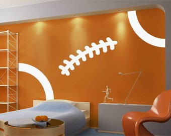 Football Stitch Removable Vinyl Wall Decal