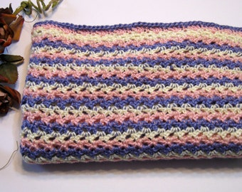 Baby Afghan, Handmade, Crochet, Soft Yellow, Pink, Purple, Baby Shower Gift, New, handmade by Norma of NormasTreasures