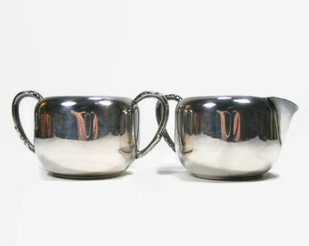 Cream & Sugar set from Oneida Community Ltd Vintage Silverplate