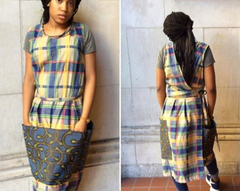 Blue and Yellow Plaid Pinafore