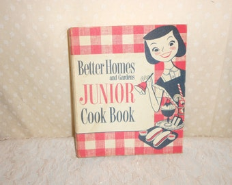 Better Homes and Gardens Junior Cookbook First addition 1955