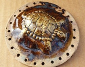 3D Turtle Start for Basketry, Brown Gold