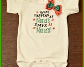 Funny baby saying one piece, What happens at Nona's stays at Nona's