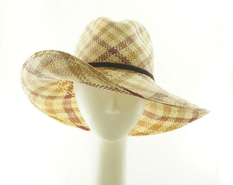 STRAW HAT - SUN Hat - Wide Brim Hat - Panama Hat - Beach Hat - Sun Block - Sun Protection - Cowboy Hat - Fedora Hat for Women - Big Hat