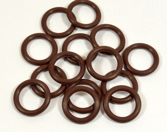 12mm Chocolate Rubber O-Rings