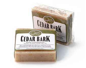 Cedar Soap, Natural, Made locally, Handmade, Unisex, FREE SHIPPING