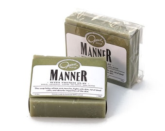 French Clay, Detox, Gentle Soap, Exfoliant Soap, No Chemicals, FREE SHIPPING