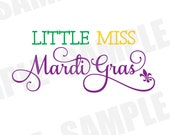 SVG DXF Commercial/Personal Use Little Miss Mardi Gras Parade Carnival Silhouette Cameo