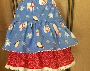 Girls Holiday Winter Skirt