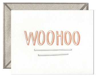 Woohoo letterpress card - single