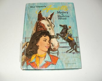 Walt Disneys Annette -Mystery at Medicine Wheel - Vintage 1964  - Whitman Collectible Book Art Illustrated