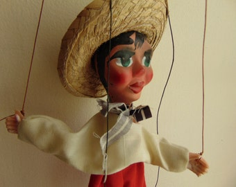 Vintage Mexican Marrionette Puppet