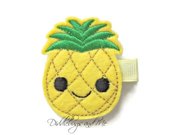 Pineapple Hair Clip, Happy Pineapple Hair Clip, Girls Pineapple Hair Clip, Beach Hair Clip, Golden Yellow Pineapple Hair Clip,