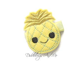 Yellow Pineapple Hair Clip, Pineapple Hair Clip, Girls Pineapple Hair Clip, Beach Hair Clip, Fruit Hair Clip, Hair Clips For Toddlers,