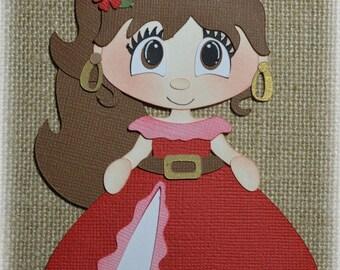 Disney Princess Elena Premade Scrapbooking Embellishment Paper Piecing