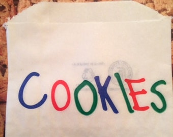 Cookie Bags-20 Bags- Cookie Monster Party and More-Offered by Not Too Shabby