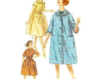 1960s Housecoat Housedress Pattern Simplicity 3664 B36 sz 16