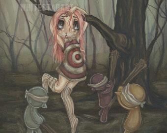 10% OFF lowbrow misfit Original Acrylic Lowbrow art painting pinata girl -A girl named Candy