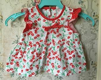 Vintage cherry print swing top 24m