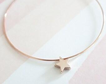 Little Stars Bangle bracelet Jewellery, Personalized Gift, Bangles, Rose Gold Silver Bangles, Bridal shower gift Bracelet, lucky stars