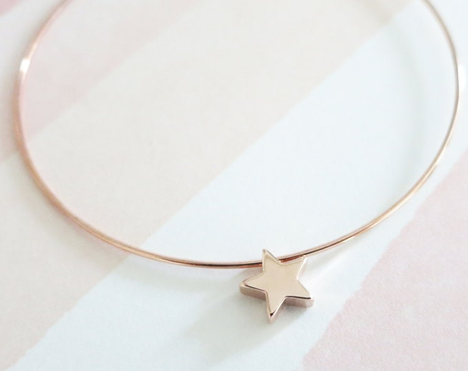 Little Stars Bangle bracelet Jewellery, Personalized Gift, Bangles, Rose Gold Silver Bangles, Bridal shower gift Bracelet, lucky stars
