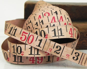 Salvaged Vintage Cloth Tape Measures 50 ft Repurpose Industrial Assemblage Steampunk Supply
