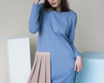 SALE - Baby blue dress   Avant garde dress   Studio dress   LeMuse baby blue dress