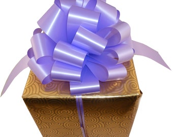 6 Big Lavender Pull Bows Large Gift Wedding Chair Ribbon Decorations