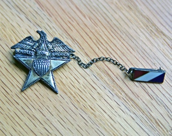 Price Reduced - Bundles for America Lapel Pin - commemorative WW II - 1941 - sterling silver