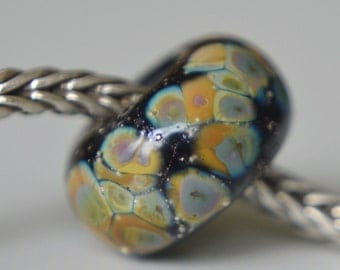 SALE - Unique Handmade Lampwork Glass European Charm Bead - SRA - Fits all European Charm Bracelets - Silver Core Options Available