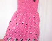 Little Girls MINNIE MOUSE Dress--Sooo Cute--Great Gift
