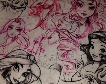 Gorgeous DISNEY's Arsy Princess fabric---40-70% off Patterns n Books SALE