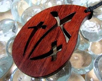 Three Cross Pendant / Exotic Bubinga Wood