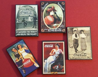5 Old Coca Cola Magnets
