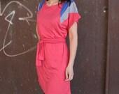 Winter Sale 15% Off!!! Shoulders dress in pink