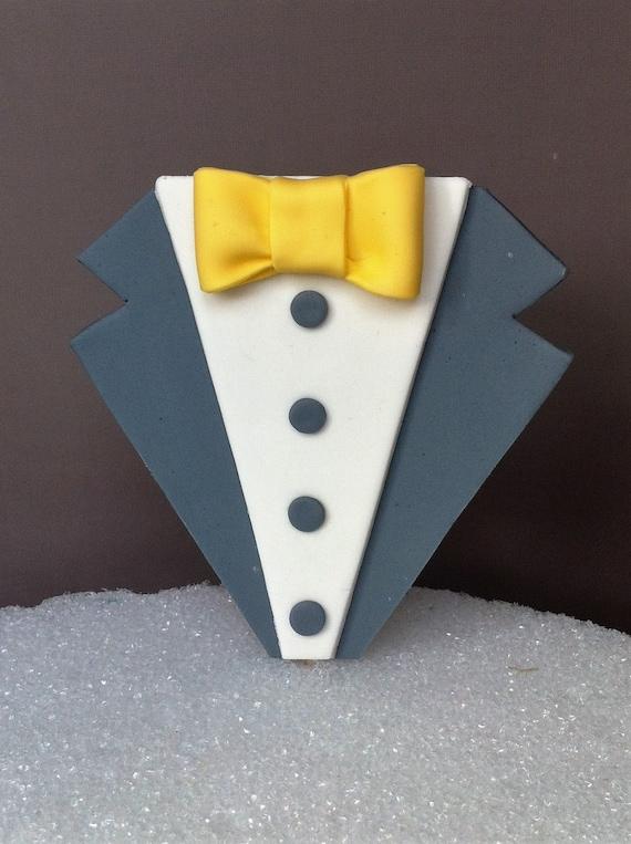 Tuxedo Fondant Cake Topper Wedding Cake Topper Grooms Cake
