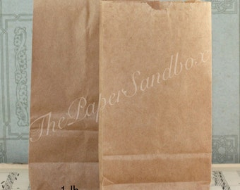 100 Mini Flat Bottom Brown Paper Bags, Choice of 3 sizes, Printable Bags, Candy Bags, Treat Bags, Goodie Bags, Halloween Treat Bags