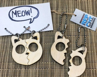 Best Friends keychain Cats