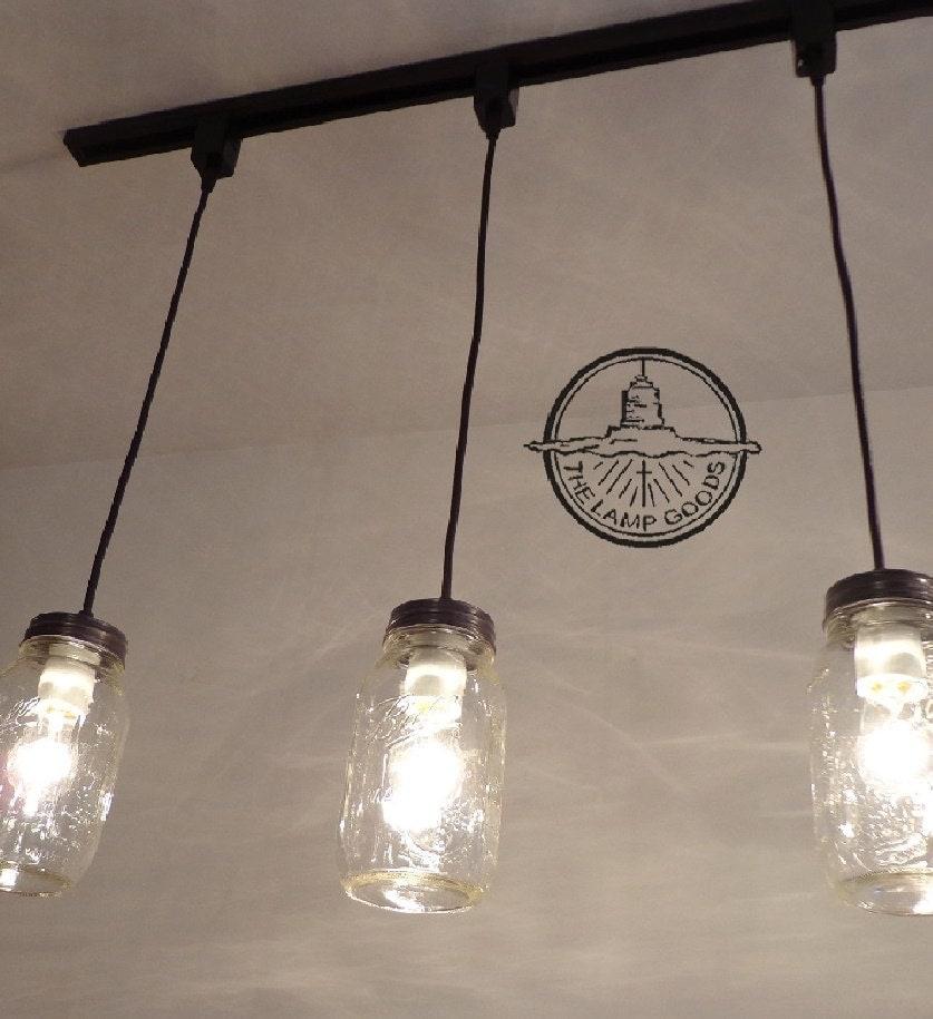 Track Lighting Maximum Length: Mason Jar TRACK LIGHTING Pendant SINGLE New Quart Flush